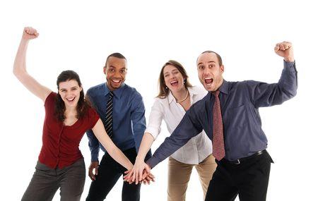 Geschäftsleute Holding Hands auf weißem Hintergrund  Standard-Bild - 3086746