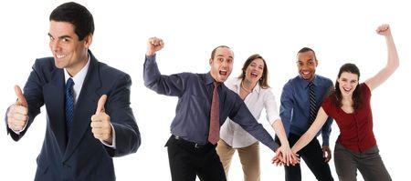 Geschäftsleute Holding Hands auf weißem Hintergrund  Standard-Bild - 3086786