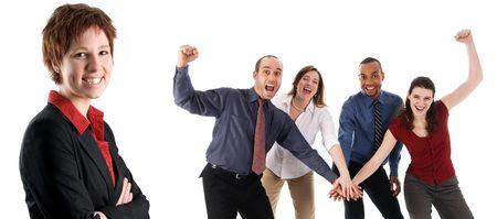 Geschäftsleute Holding Hands auf weißem Hintergrund  Standard-Bild - 3086787