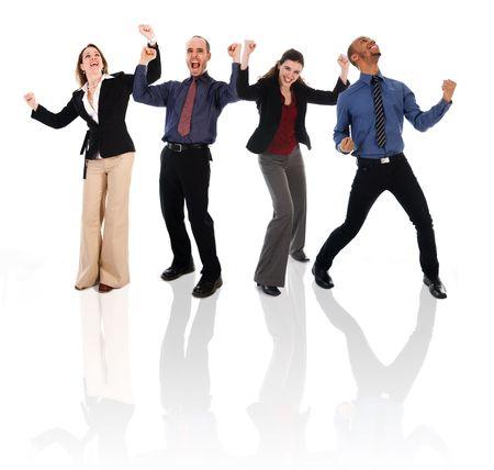 Business-Team gerne in eine isolierte weißem Hintergrund  Standard-Bild - 3183635