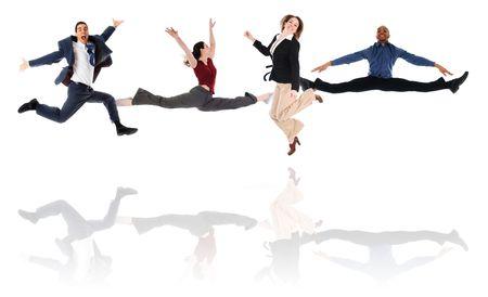 Business-Team gerne in eine isolierte weißem Hintergrund  Standard-Bild - 3183629