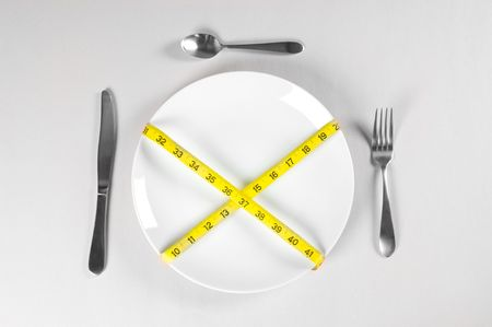 White Plate and Diet with nutrition and hunger photo