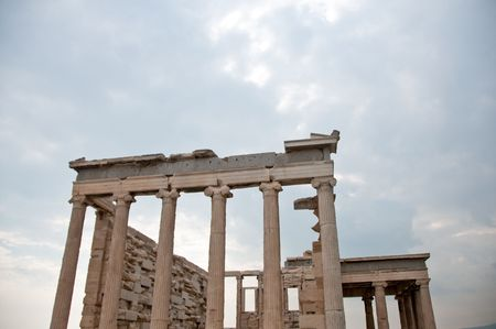 mediterranian: Greek Ruins in Athens greece temple with pilars