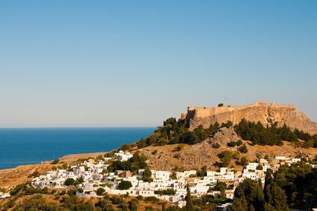 Greek Tourism in Rhodes island white village