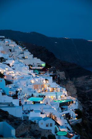Greek Tourism in santorini island hotel lodging