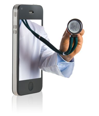 Medical professional online service on mobiole phone Stock Photo - 7709236
