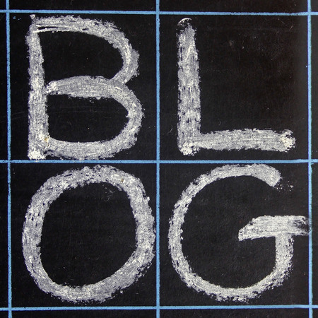 blog word handwritten on a blackboard photo