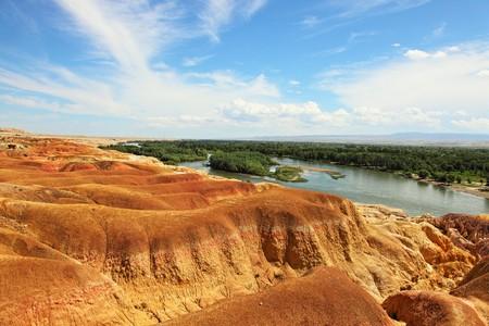 xinjiang: Xinjiang Eerqisi River beach.