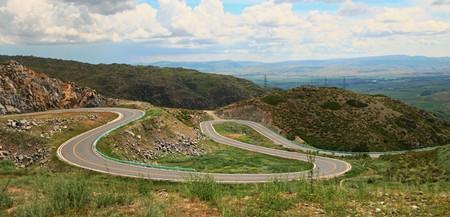 xinjiang: Xinjiang on the way to Lake Kanas serpentine road.