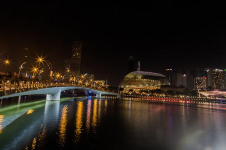 Singapore night view Editorial