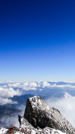 kunming: Kunming, Yunnan, China, Lijiang Jade Dragon snow mountain Stock Photo