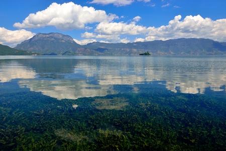 Landscape scenery view of Lugu Lake Stock fotó - 83943216