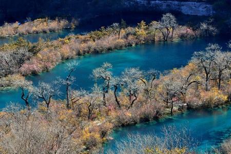 Landscape scenery view of Jiuzhaigou, China