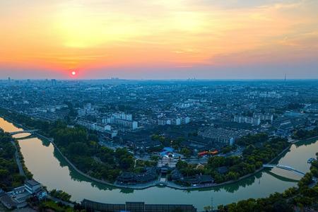 Sunset canal Фото со стока