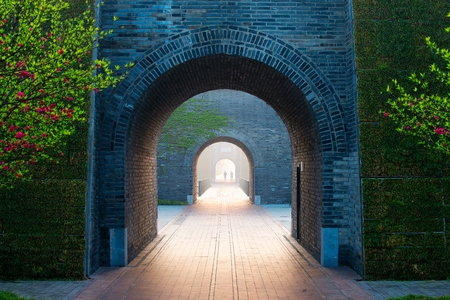 The ancient wall in Yangzhou China