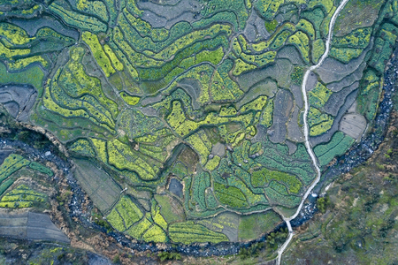 aerial photo of small village of Anhui, China Stock fotó