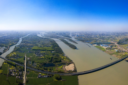 panorama of The Grand Canal from Beijing to Hangzhou Stock Photo