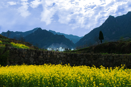 the spring village of south of Anhui province in China