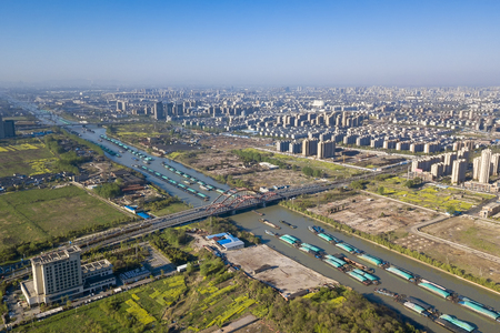 panorama of The Grand Canal from Beijing to Hangzhou Stock fotó