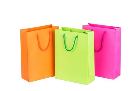 the shopping bags, various colour photo