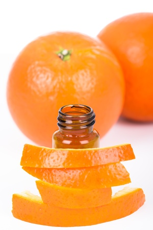 Orange essential oil Stock Photo - 22669828