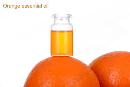 Orange essential oil Stock Photo - 22669833