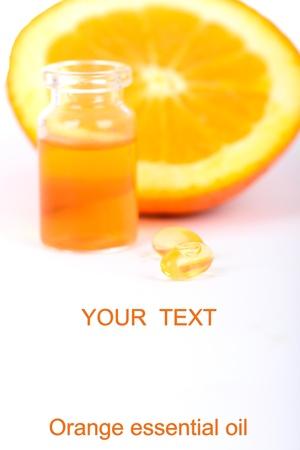 Orange essential oil Stock Photo - 22669835