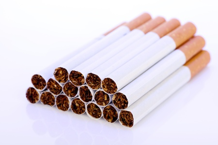 Close-up of cigarettes photo