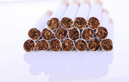 Close-up of cigarettes photo