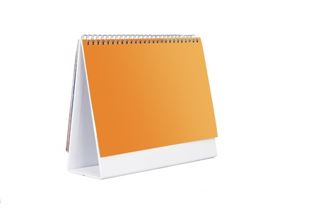desk calendar on white background photo