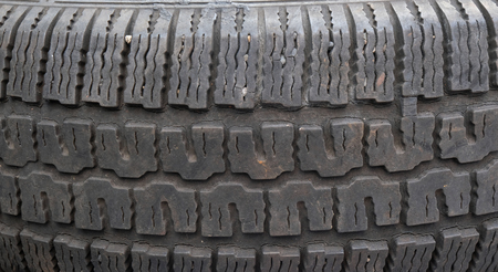 winter tires: Old tire Stock Photo