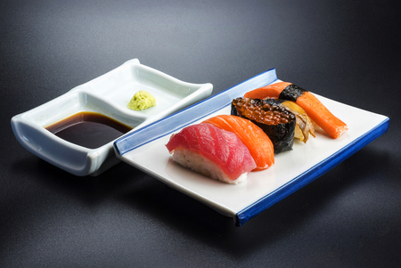 japanese food with seafood menu Bright colors to eat