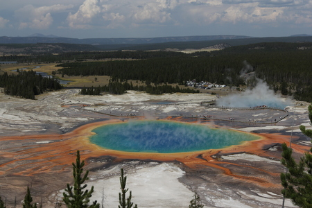 Overlooking Of The Grand Prismatic Spring