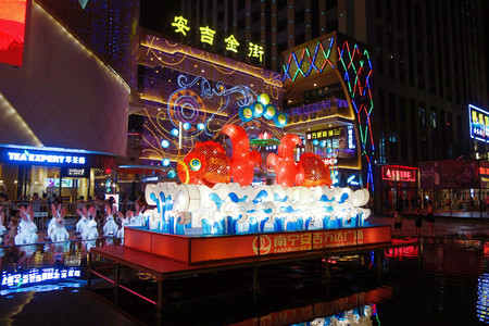 Night view of Anji Wanda Plaza, Nanning, Guangxi Editöryel