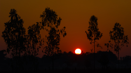 Sunrise in a good day in Vientiane