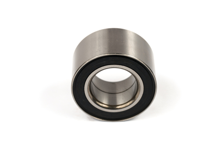 Wide ball bearing for the front hub of the car suspension