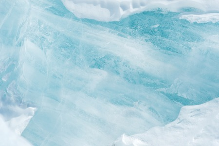 blue ice abstract natural background. Elements of glacier. Close-up Archivio Fotografico