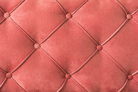 Close-up Furniture fittings - backrest upholstered sofa. Abstract texture design