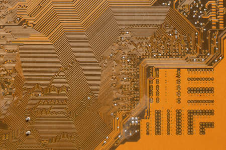 Computer circuit board close up. Background for the theme of electronics and computerization