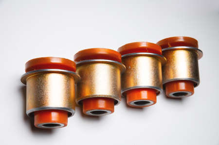 New set of polyurethane front suspension bushings for cars. silent blocks of the front axle of an off-road vehicle