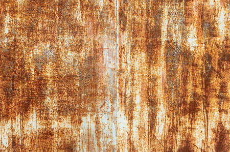 Rust on the surface of the iron with paint. Grunge texture background Stockfoto