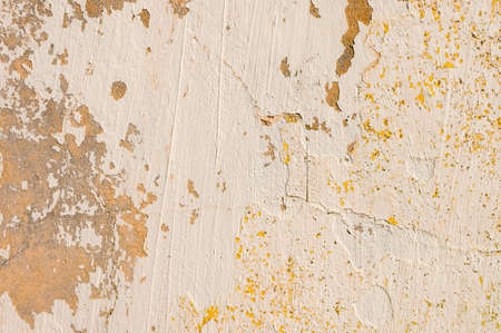 Old painted cracked wall with peeling paint. Grunge background. Expressive texture Stockfoto