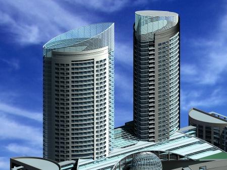 edificio cristal: Edificio moderno