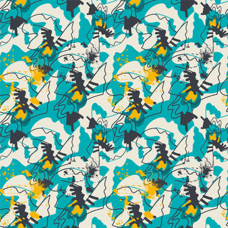 Seamless background with abstract creative pattern