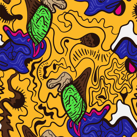 Seamless backdrop with abstract hand drawn unusual pattern