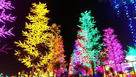 shah: Beauty of colorful lamp in I City Shah Alam