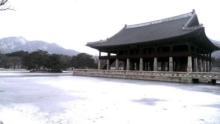 gyeongbokgung: Beauty of Gyeongbokgung Palace during winter season