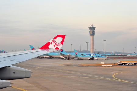 incheon: Incheon,South Korea 28 Dec 2014: View of Incheon airport tower at morning