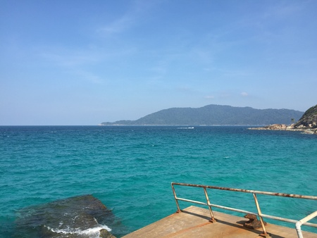 wrecked: View from wrecked jetty in Perhentian Island