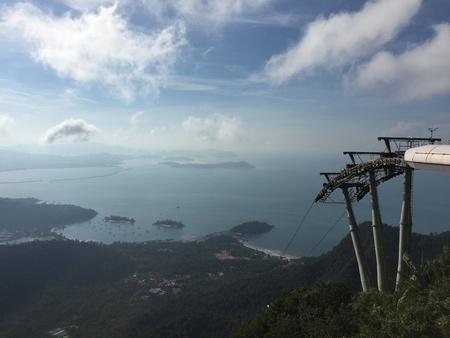 breezy: Top view from mat cincang mountain Stock Photo
